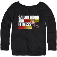 Sailor Moon and Fitness Off The Shoulder Sweater