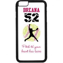 Softball Pitcher Phone Case