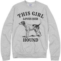 Girl loves her Hound
