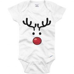 Red Nose Reindeer Christmas Onsie