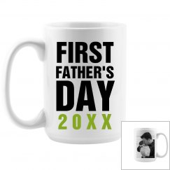 Custom Photo First Father's Day Mug