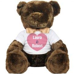 Custom Valentines Bear
