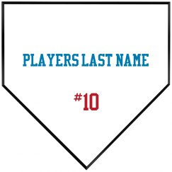 Player name with number wooden p