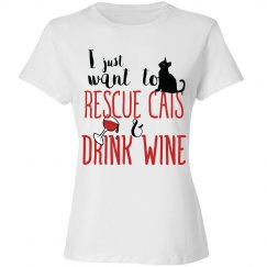 I want to rescue cats and drink