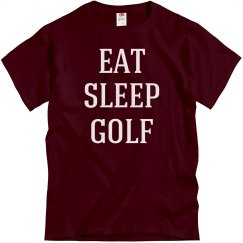 Eat, sleep, golf