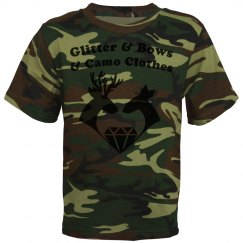 Glitter & Bows & Camo Clothes Girls' Tee