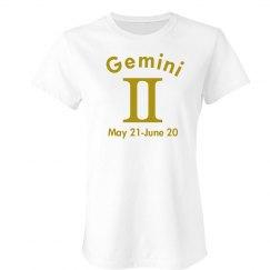 Gemini In Gold