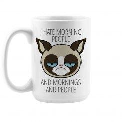 Hate Morning People Large Mug