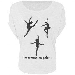 Im always on piont...