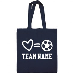 Custom Soccer Love Life Bag