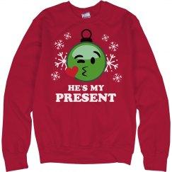 He's My Christmas Present Emoji
