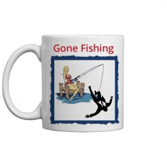 Gone Fishing - Coffee Mug