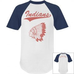 Indian Blue Baseball Tee