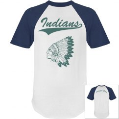 Teal Indian Baseball Tee