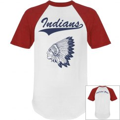 Red Indian Baseball Tee