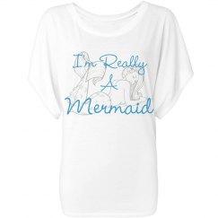 """Really A Mermaid"" Flowy Draped"