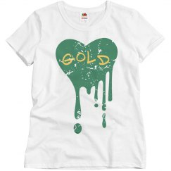 Melting Heart (Green & Gold)