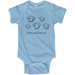 Chicks On Me Onesie