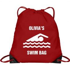 Olivia's swim bag