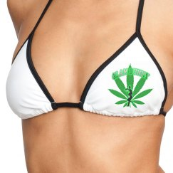 GB Green Leaf Bikini Top