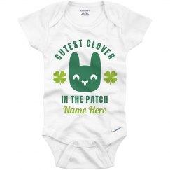 Custom Cutest Clover Bunny Onesie