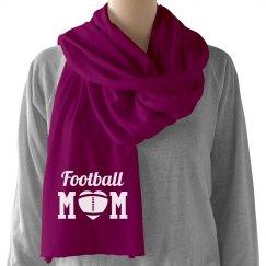 Simple Football Mom Scarf