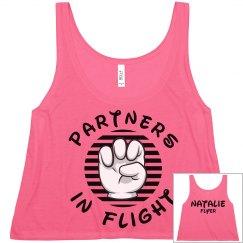Matching Cheer Flight Partners Flyer Girl Crop
