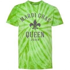 Green Custom Mardi Gras Queen