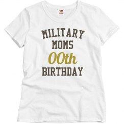 Customize military mom bday