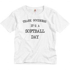 It's a softball day