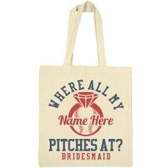 Baseball Bachelorette Party Favor Gift Bags