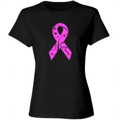 Breast Cancer Hot Pink Ribbon With Love