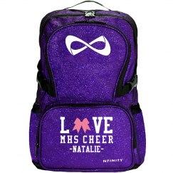Love Cheer Bows High School Cheerleader Bag