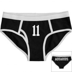 Aquarius Sporty Zodiac Underwear