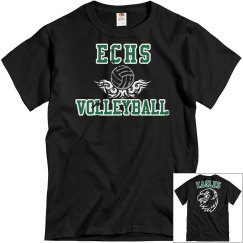 ECHS VOLLEYBALL- Black Distressed