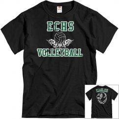 ECHS VOLLEYBALL- Black Distressed