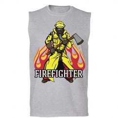 Firefighter (w/axe & flames)