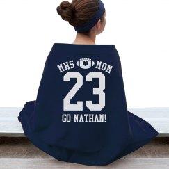 Cozy Football Mom Blanket