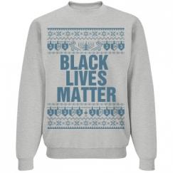 Dreidel & Menorah Hanukkah Black Lives Matter - Blue