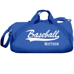 Matthew's Baseball Bag