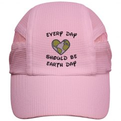 Earth Day Running Cap - pink