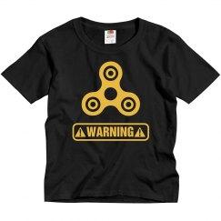 Funny Fidget Spinner Warning