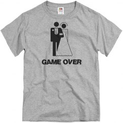Game over wedding shirt