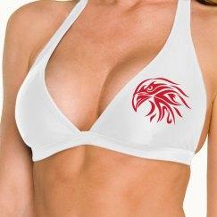 Hawk Bikini top Black and Red