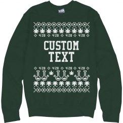 Custom Merry-Juana Christmas Sweater