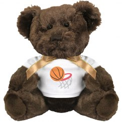 Basketball and Hoop Medium Plush Teddy Bear