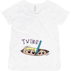 Twins Maternity Tee