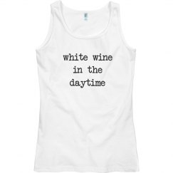 White wine in the daytime tank