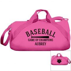 Aubrey, Baseball bag