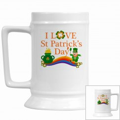 I Love St Patrick's Day, Stein